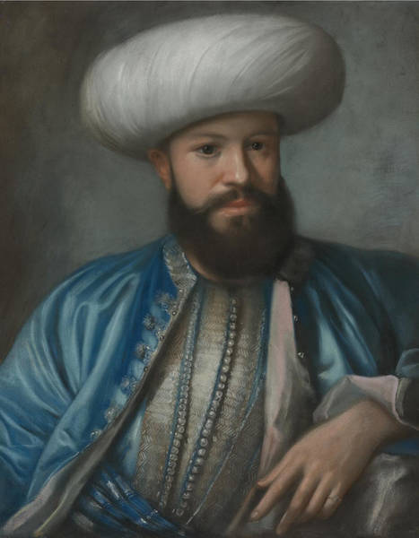 Jean Etienne Liotard Wall Art - Painting - Portrait Of A Man In Turkish Costume by Celestial Images