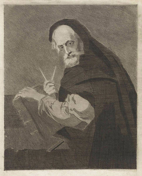 Mathematics Drawing - Portrait Of A Mathematician, Anonymous, Jusepe Ribera by Anonymous And Jusepe Ribera