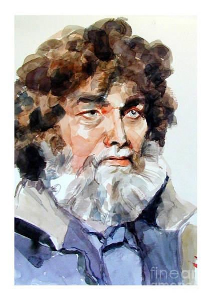 Watercolor Portrait Of A Sailor Art Print