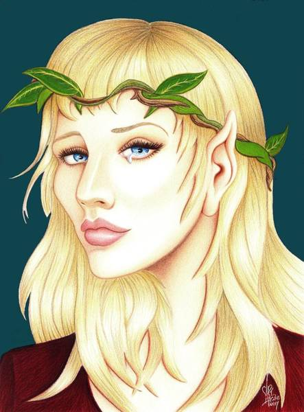 Drawing - Portrait Of A She Elf by Danielle R T Haney