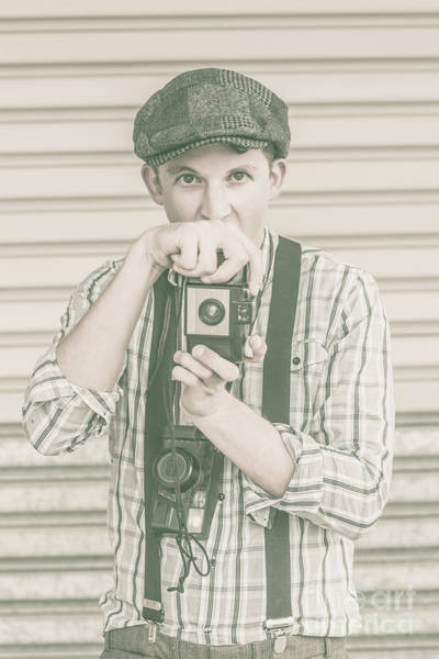 Framing Photograph - Portrait Of A Surprised Photographer by Jorgo Photography - Wall Art Gallery