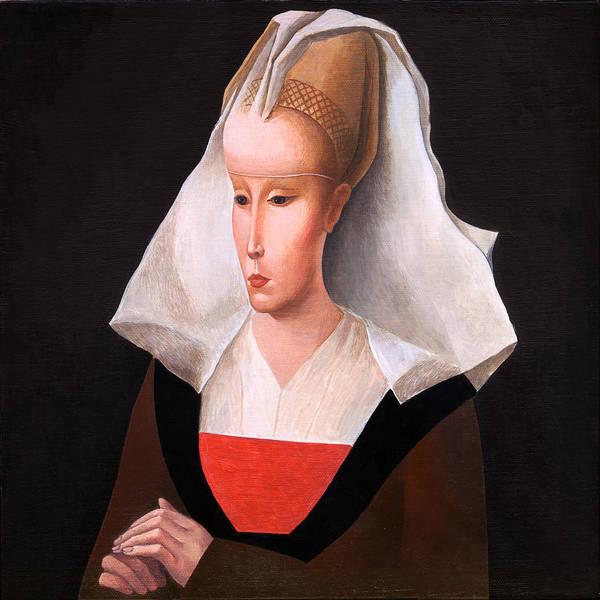Wall Art - Painting - Portrait Of A Woman. After Rogier Van Der Weyden. by Ilir Pojani