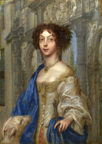 Gonzales Wall Art - Painting - Portrait Of A Woman As Saint Agnes by Gonzales Coques