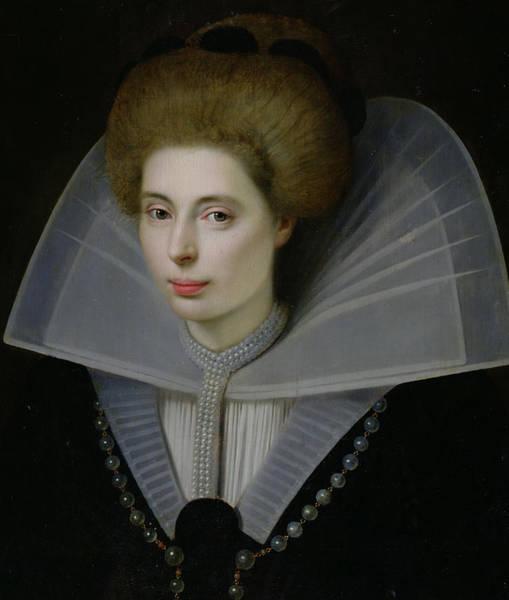 Sixteenth Wall Art - Painting - Portrait Of A Woman  by Dutch School