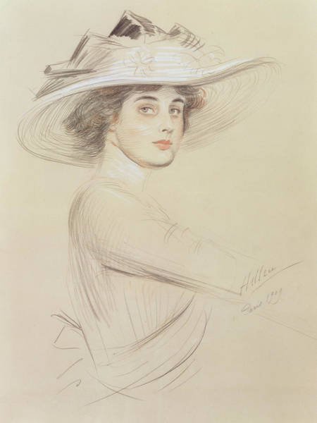 Cesar Wall Art - Drawing - Portrait Of A Woman by  Paul Cesar Helleu