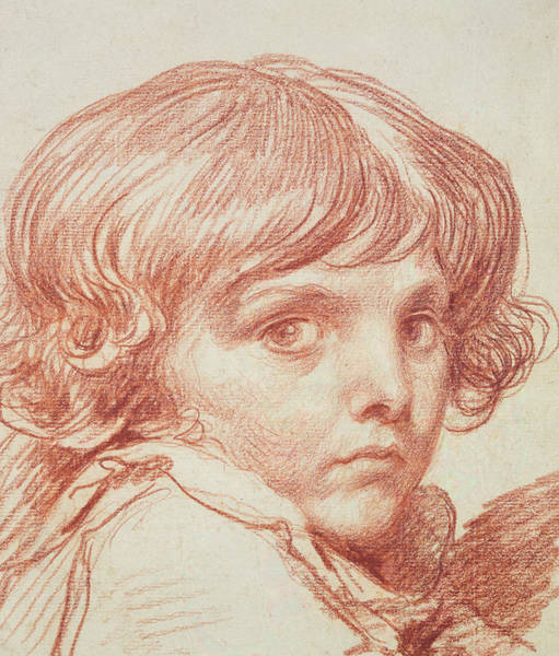Crayon Drawing - Portrait Of A Young Boy by Claude Lorrain