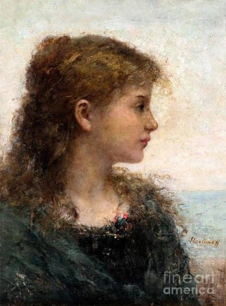 Painting - Portrait Of A Young Girl by Celestial Images