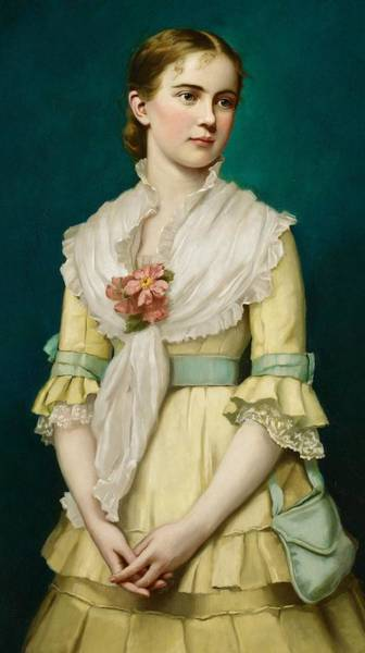 Rosy Wall Art - Painting - Portrait Of A Young Girl by George Chickering Munzig