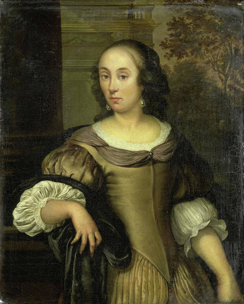 Wall Art - Drawing - Portrait Of A Young Woman, Eglon Van Der Neer by Litz Collection