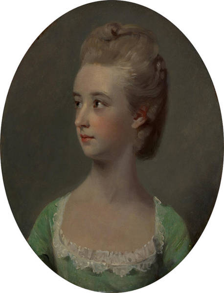 Wall Art - Painting - Portrait Of A Young Woman, Possibly Miss Nettlethorpe by Litz Collection