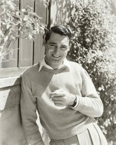 November 1st Photograph - Portrait Of Actor Cary Grant by George Hoyningen-Huene