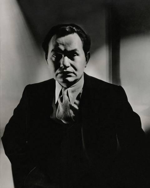 Male Photograph - Portrait Of Actor Edward G. Robinson by Anton Bruehl