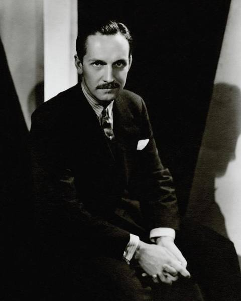 Photograph - Portrait Of Actor Frederick March by Toni Von Horn
