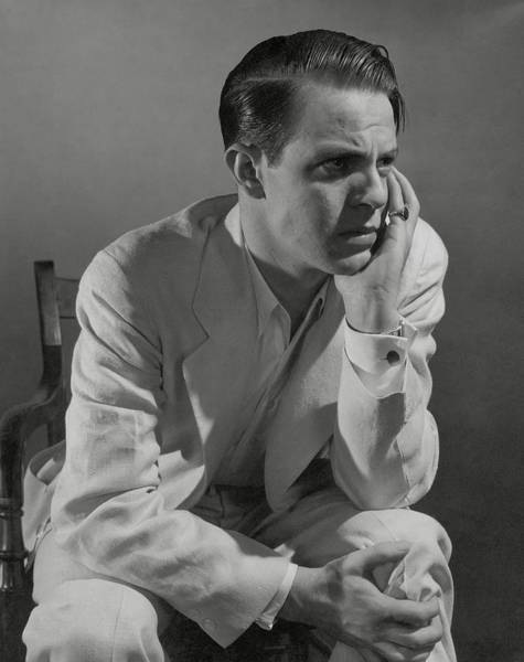 Male Photograph - Portrait Of Actor Louis Hayward by Edward Steichen