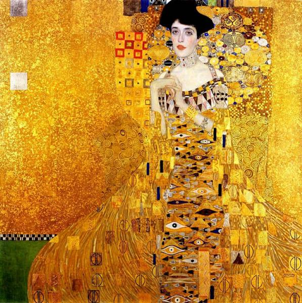 Adele Painting - Portrait Of Adele Bloch-bauer Art Nouveau by Masterpieces Of Art Gallery