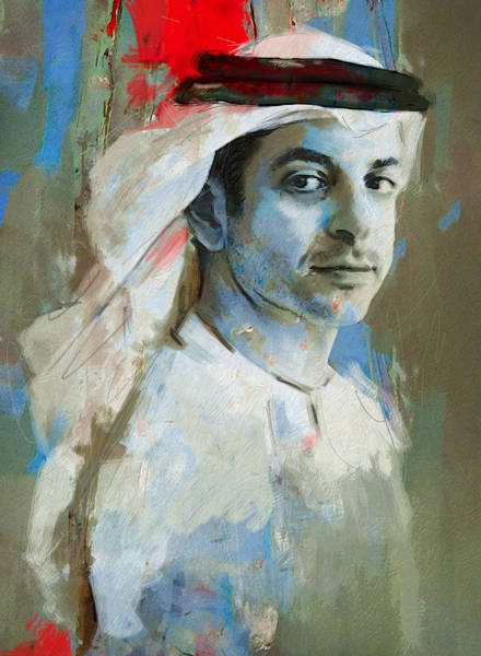 Bin Wall Art - Painting - Portrait Of Ahmed Bin Zayed Al Nahyan by Maryam Mughal
