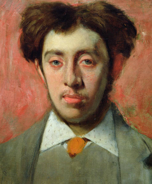 Messy Painting - Portrait Of Albert Melida by Edgar Degas