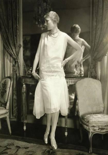 Wall Art - Photograph - Portrait Of Alden Gay Wearing A Cheruit Dress by Charles Sheeler