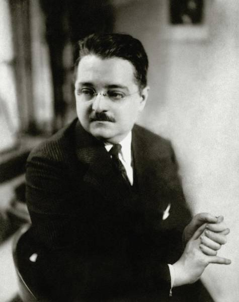 Eyewear Photograph - Portrait Of Alexander Woollcott by Florence Vandamm