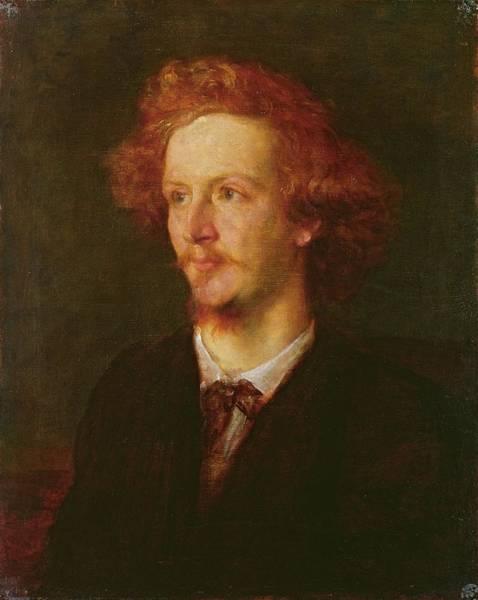 Redhead Photograph - Portrait Of Algernon Charles Swinburne 1837-1909 1867 Oil On Canvas by George Frederick Watts