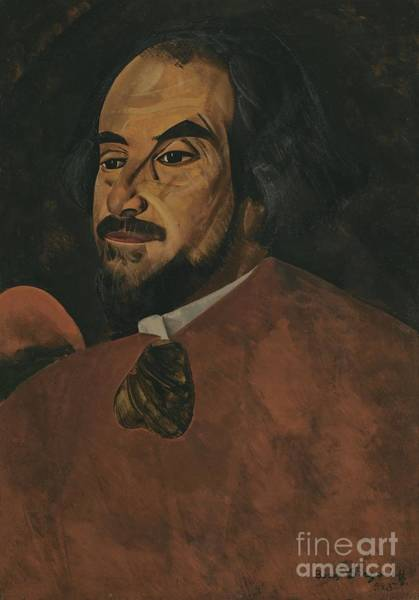 Russian Impressionism Wall Art - Painting - Portrait Of An Actor Said To Be Nikolai Alexandrov  by Celestial Images