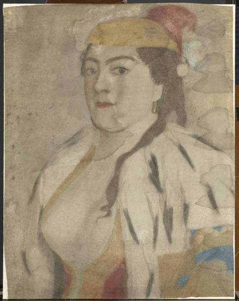 Jean Etienne Liotard Wall Art - Drawing - Portrait Of An Unknown Woman From Istanbul by Litz Collection