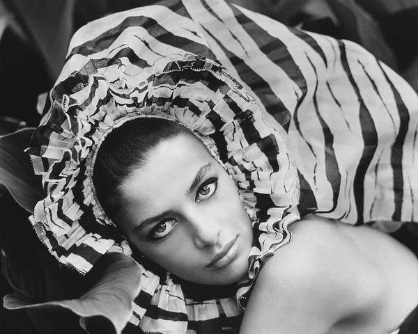Headdress Photograph - Portrait Of Ana Maria De Moreas Barros by Henry Clarke