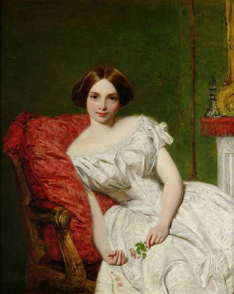 Seat Painting - Portrait Of Annie Gambart by William Powell Frith
