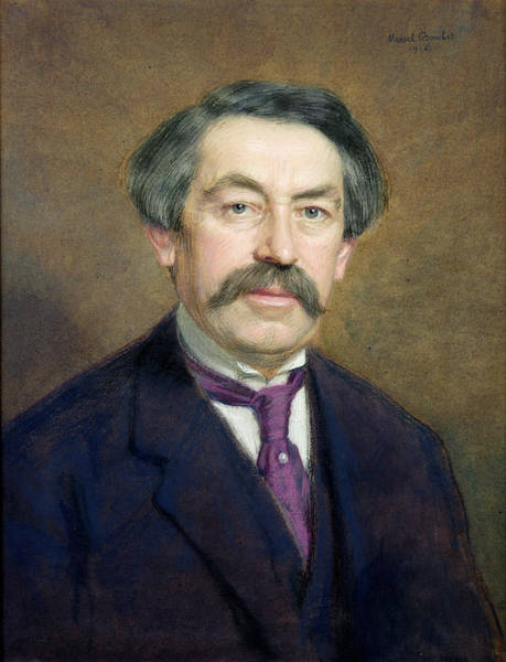 Moustaches Photograph - Portrait Of Aristide Briand 1862-1932 1916 Pastel On Paper by Marcel Andre Baschet