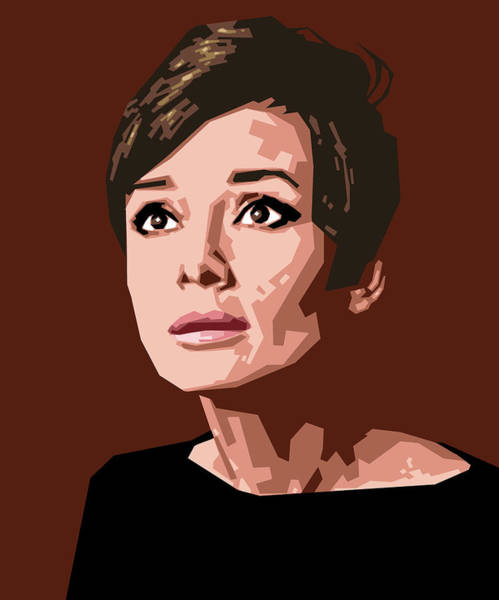 Holly Digital Art - Portrait Of Audrey Hepburn by Douglas Simonson