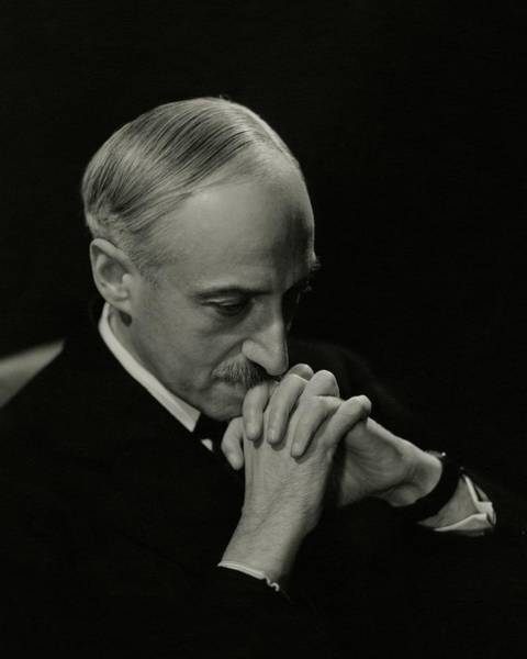 Head And Shoulders Photograph - Portrait Of Author Andre Maurois by George Hoyningen-Huene