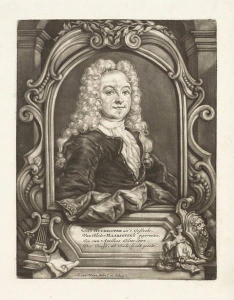 1715 Drawing - Portrait Of Balthazar Huydecoper, Arnoud Van Halen by Arnoud Van Halen