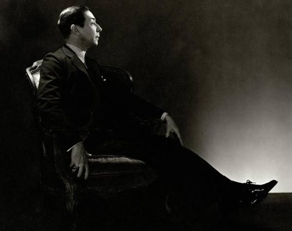 Photograph - Portrait Of Baron Adolph De Meyer by George Hoyningen-Huene