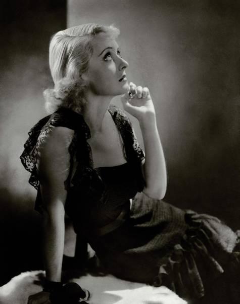 Photograph - Portrait Of Bette Davis by Horst P. Horst