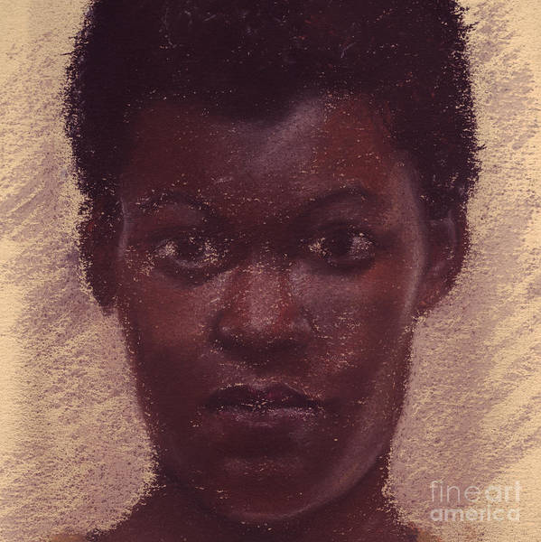 Pastel - Portrait Of Black Girl 3 by Russell Kightley