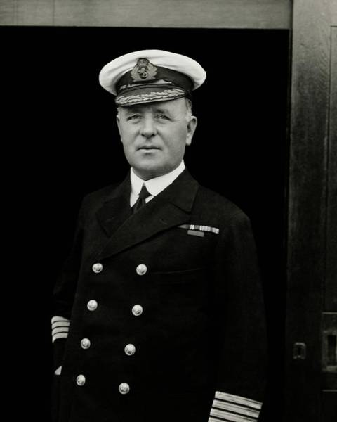 Boat Photograph - Portrait Of Captain Edward Diggle Wearing by Dana B. Merrill