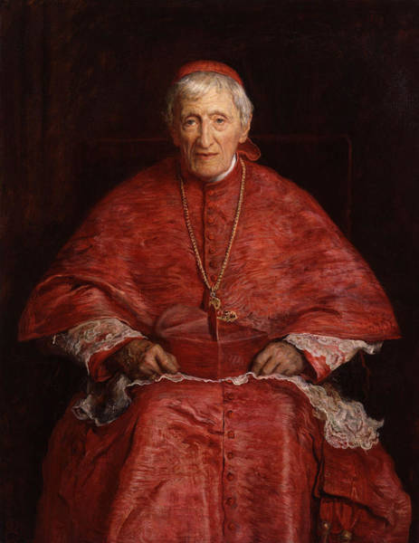 Millais Painting - Portrait Of Cardinal John Henry Newman by Celestial Images