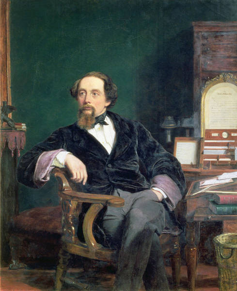 Crossed Legs Painting - Portrait Of Charles Dickens by William Powell Frith