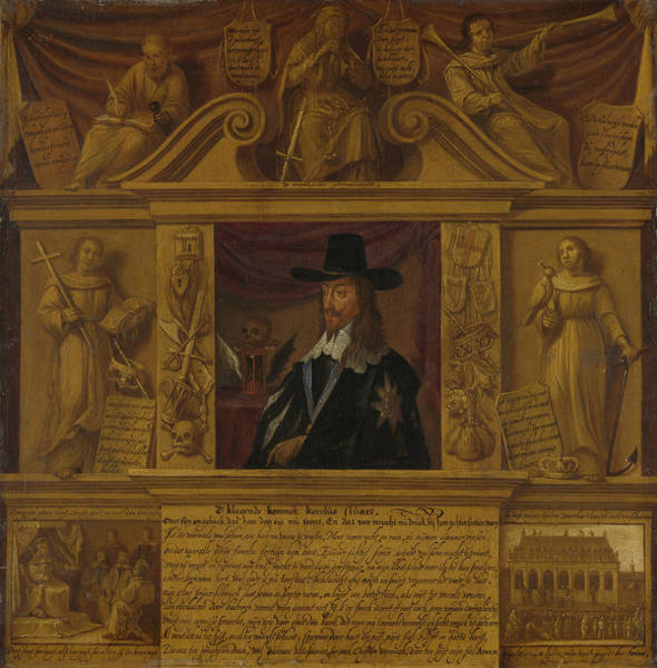 Allegorical Figure Drawing - Portrait Of Charles I, King Of England, In A Frame by Litz Collection