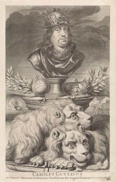 Wall Art - Drawing - Portrait Of Charles Xi, King Of Sweden, Print Maker Pieter by Pieter Van Schuppen And David Ehrenstrahl
