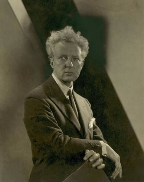 Classical Music Photograph - Portrait Of Conductor Leopold Stokowski by Edward Steichen