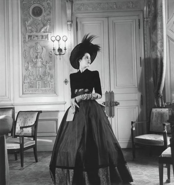 1946 Photograph - Portrait Of Countess Charles Emmanuel De La by Horst P. Horst