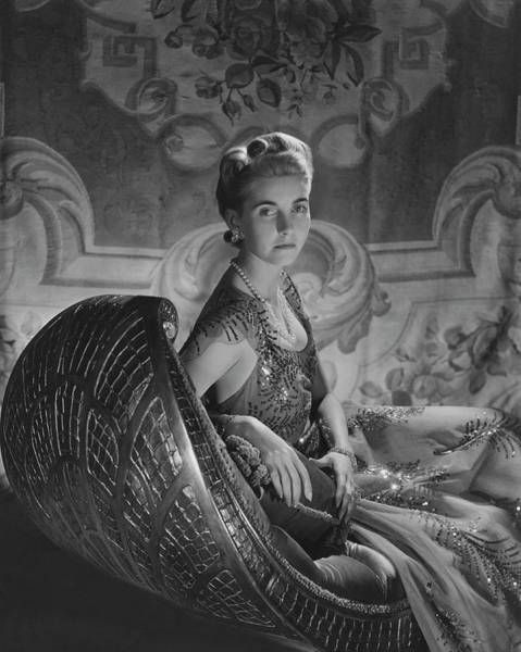 1941 Photograph - Portrait Of Countess Haugwitz-reventlow by Horst P. Horst