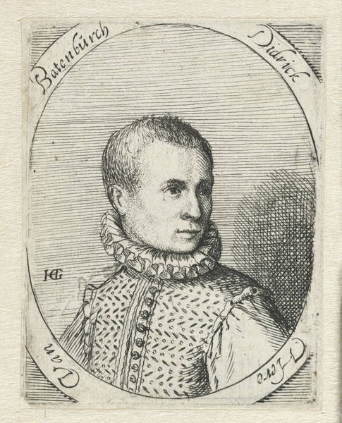 Wall Art - Drawing - Portrait Of Diederik Van Bronckhorst Batenburg by Anonymous