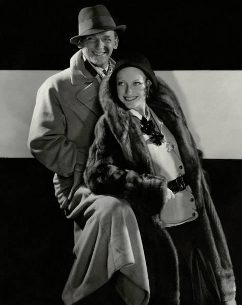 American Beauty Photograph - Portrait Of Douglas Fairbanks Jr And Joan by Edward Steichen