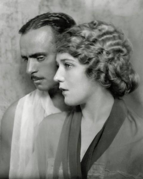 Two People Photograph - Portrait Of Douglas Fairbanks St. And Mary by Nickolas Muray
