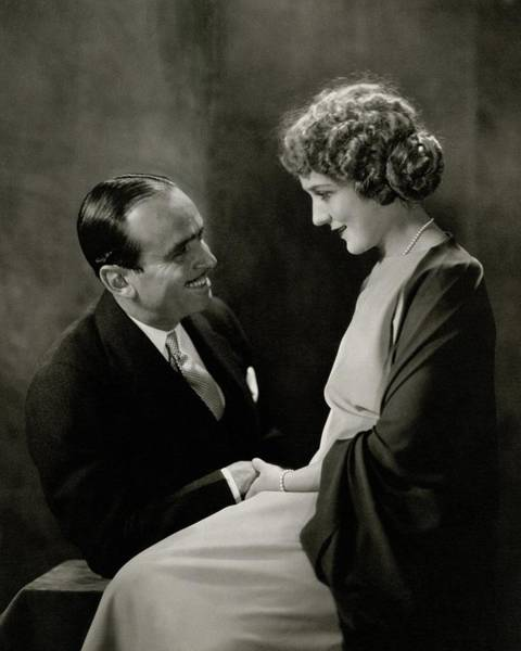 Love Photograph - Portrait Of Douglas Fairbanks With His Wife by Edward Steichen