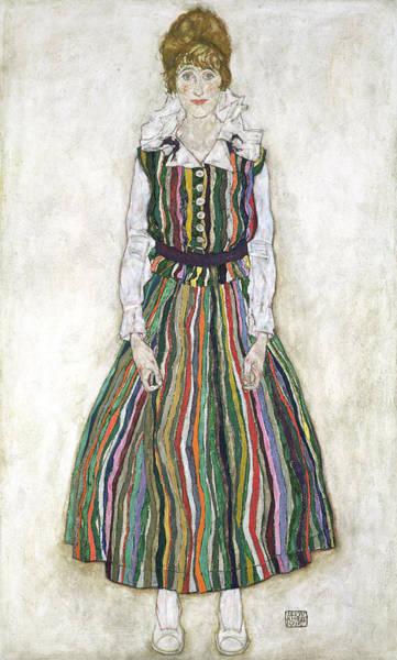 Painting - Portrait Of Edith Schiele, The Artists by Egon Schiele