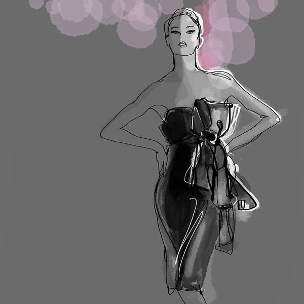 Hip Digital Art - Portrait Of Elegant Woman In Glamorous by Jan Richter