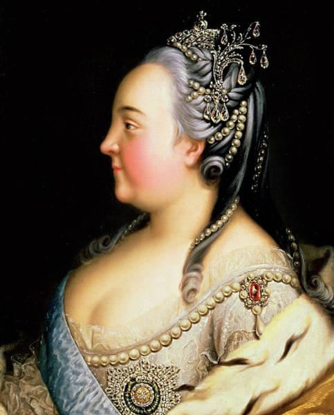 Rosy Wall Art - Painting - Portrait Of Elizabeth Petrovna Empress Of Russia by Heinrich Buchholz